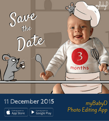 Save the Date myBabyD APP finally in stores